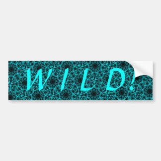 Elegant Teal Spotted Leopard Kaleidoscope Car Bumper Sticker