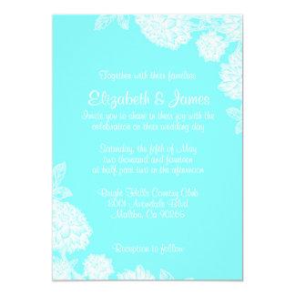 Elegant Teal Wedding Invitations
