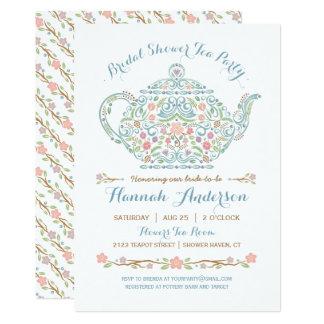 Elegant Teapot Bridal Shower Invitation