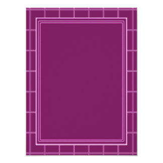 Elegant Template with Border Dark Purple Poster