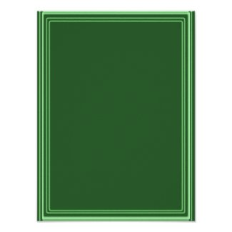 Elegant Template with Border GREEN EMERALD Posters