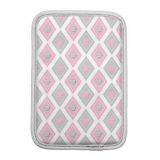 Elegant Tennis Ball Diamond Pattern Pink and Grey iPad Mini Sleeve