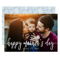 Elegant Text Photo Mother's Day Card
