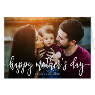 Elegant Text Photo Mother's Day Greeting Card