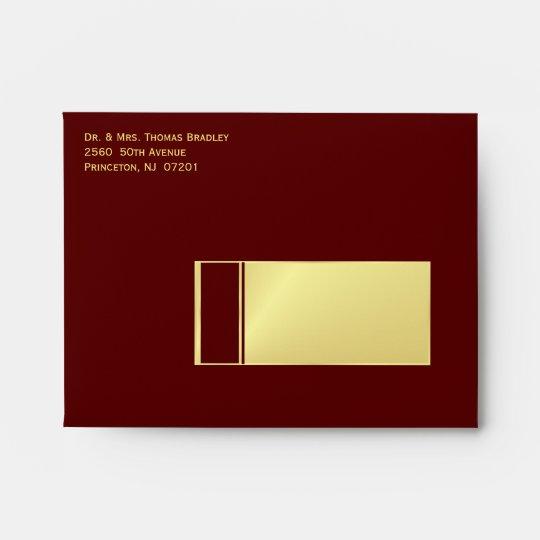 Elegant Thank You Card Envelopes - Burgundy