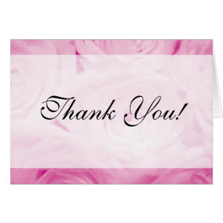 Elegant Thank you card for weddings | Pink roses