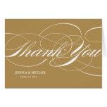 Elegant Thank You Card - Gold