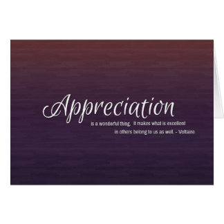 Elegant Thank You Card with Voltaire Quote Greeting Card