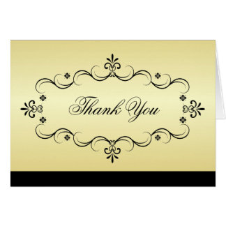 Elegant Thank You Cards - Gold and Black