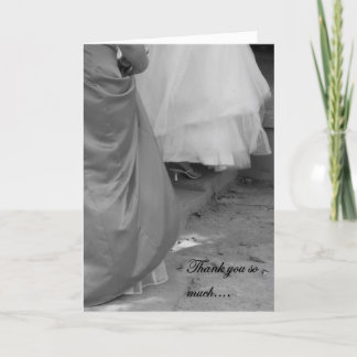 Elegant Thank You for Being My Bridesmaid Card