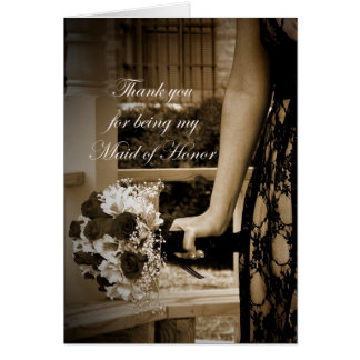 Elegant Thank you for Being my Maid of Honor Card