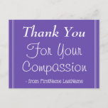 """[ Thumbnail: Elegant """"Thank You For Your Compassion"""" Postcard ]"""
