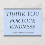"""[ Thumbnail: Elegant """"Thank You For Your Kindness"""" Postcard ]"""