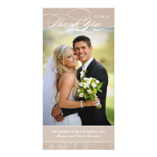 Elegant Thank You Photo Card (4x8)