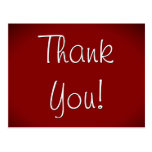"[ Thumbnail: Elegant ""Thank You!"" Postcard ]"
