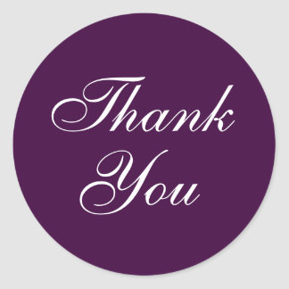 Elegant Thank You Stickers in Purple