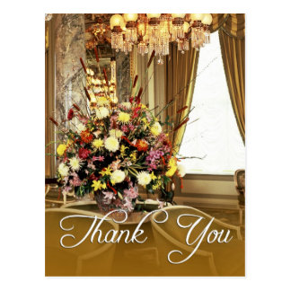 Elegant Thank You with Flower Arrangement Postcard