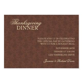 Elegant Thanksgiving Dinner Invitation