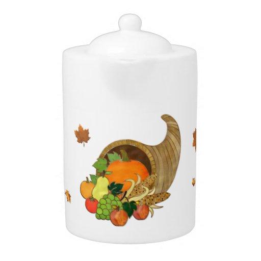 Elegant Thanksgiving Kitchen Decor Tea Pot Zazzle
