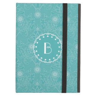 Elegant Tiffany Damask Pattern with Monogram iPad Air Cover
