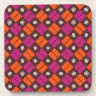 Elegant Tile Pattern Beverage Coaster