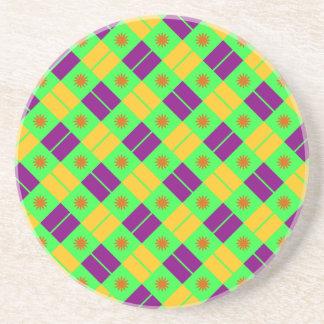 Elegant Tile Pattern Drink Coaster
