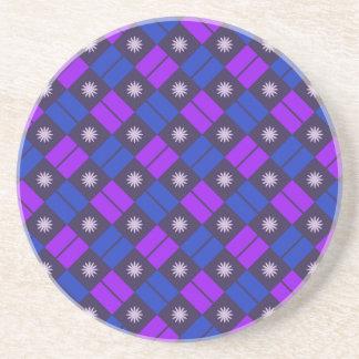 Elegant Tile Pattern Sandstone Coaster