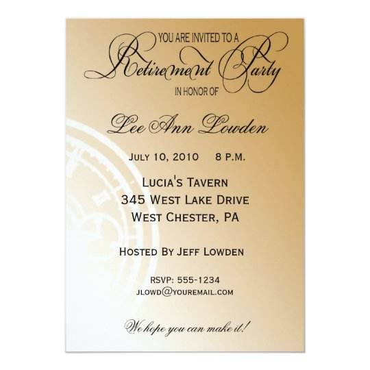 Elegant, Timeless Retirement Party Invitation