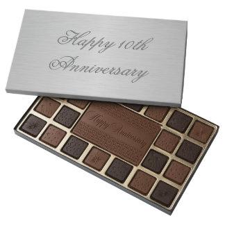 Elegant Tin Print Custom 45 Piece Box Of Chocolates