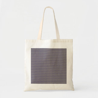 Elegant tiny blue octagonal pattern on rough white bags