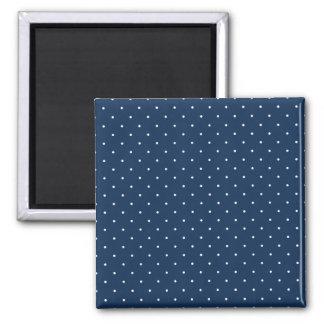 elegant tiny navy blue white polka dots pattern magnet