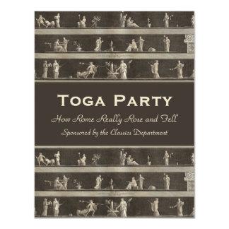 Elegant Toga Party Beautiful Classical Motif Card
