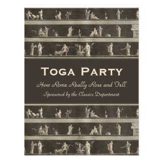 Elegant Toga Party Beautiful Classical Motif Custom Invitation