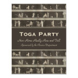 Elegant Toga Party Beautiful Classical Motif 4.25x5.5 Paper Invitation Card