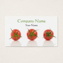 Elegant Tomato Photo Health Organic Farm Business Card