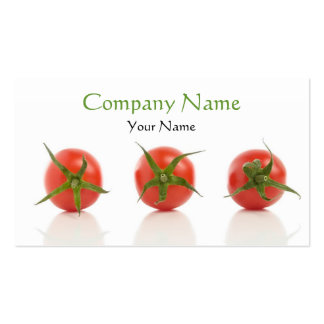 Elegant Tomato Photo Health Organic Farm Double-Sided Standard Business Cards (Pack Of 100)