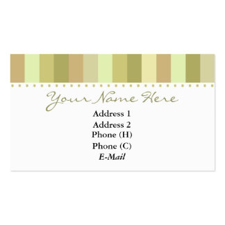 Elegant Top Stripes Business Card