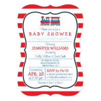 Elegant Toy Train Baby Shower Invitation