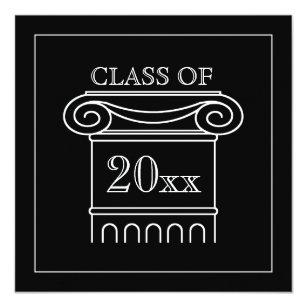 traditional white graduation invitations announcements zazzle