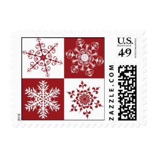 Elegant Traditional Holiday Christmas Snowflakes Postage