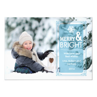 "Elegant Transparency Holiday Photo Card Groupon 5"" X 7"" Invitation Card"