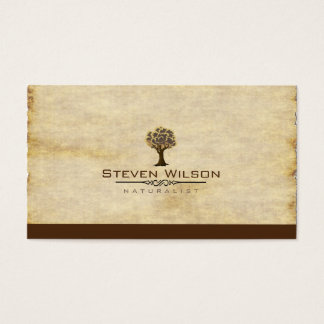 Elegant Tree Green Nature Sand Garden Landscape Business Card