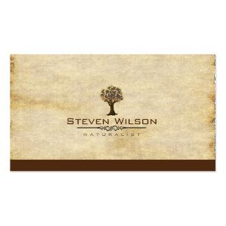 Elegant Tree Green Nature Sand Garden Landscape Double-Sided Standard Business Cards (Pack Of 100)