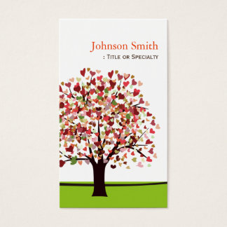 Elegant Tree of Hearts - Simple and Nature Business Card