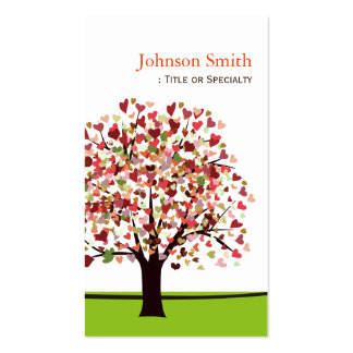 Elegant Tree of Hearts - Simple and Nature Double-Sided Standard Business Cards (Pack Of 100)