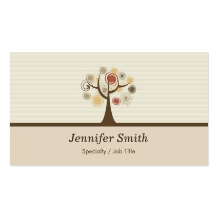 Elegant Tree of Life - Natural Theme Business Cards