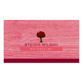Elegant Tree Pink Nature Wood Garden Landscape Business Card