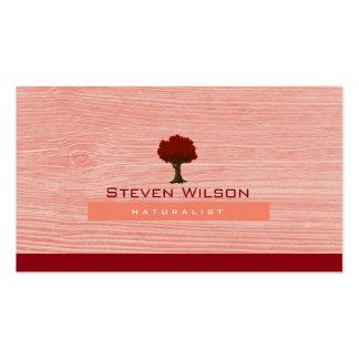 Elegant Tree Red Nature Wood Garden Landscape Business Card