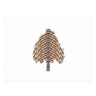 ELEGANT Tree Symbol:  Metalic Colors LOWPRICE STOR Postcard