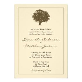 Elegant Tree Wedding Invitation